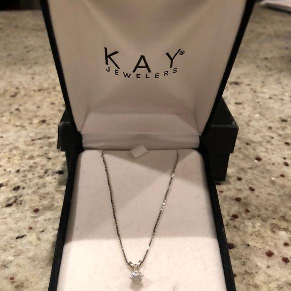 30598ddbfe4 Kay Jewelers Jewelry | Diamond Solitaire Necklace | Poshmark